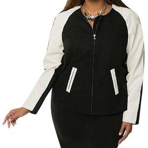 Like NEW Lane Bryant scuba style jacket 26/28 4X